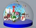 Christmas Snow Globe with Snowman and Christmas Tree 7