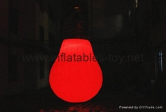 Bulb Shape Inflatable Balloon, LED Decoration Bulb Baloon