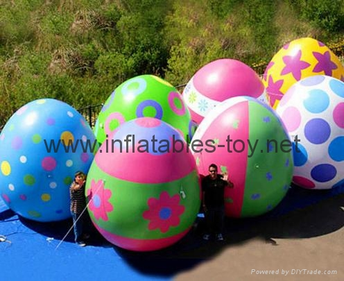 Easter Decoration Balloon, Colorful Inflatable Easter Eggs for Promotional 1