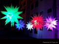 Inflatable Spiked Lighting Spheres for