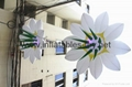 Inflatable decoration flowers