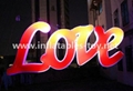 LED Love Letters for Event Wedding