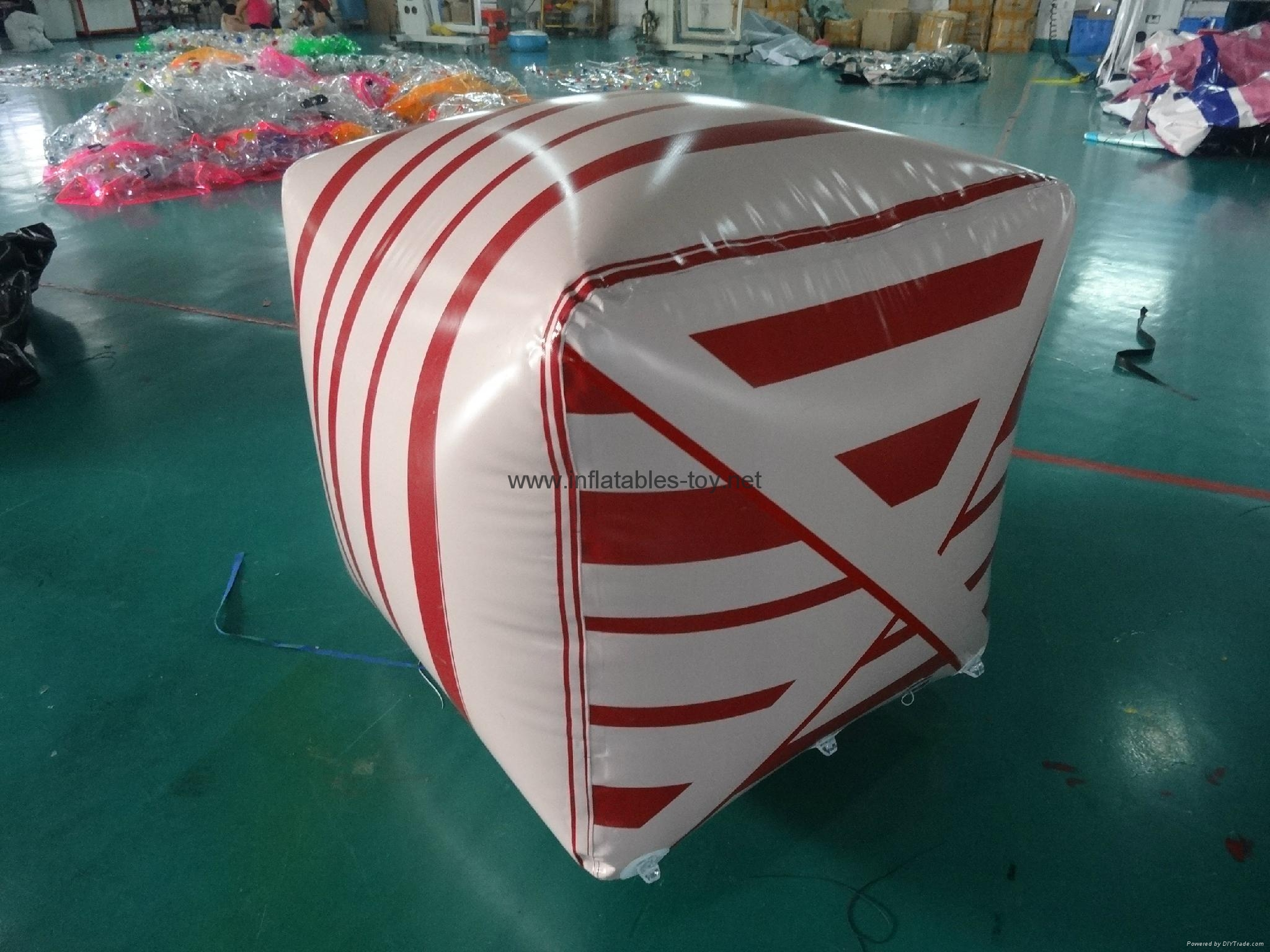 Cube Shape Safety Buoys Inflatable, Water Buoy Marker 12