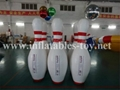 Inflatable Bowling Pins, Advertising