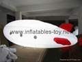 Printed Helium Inflatable Zepelin with LED lights 3