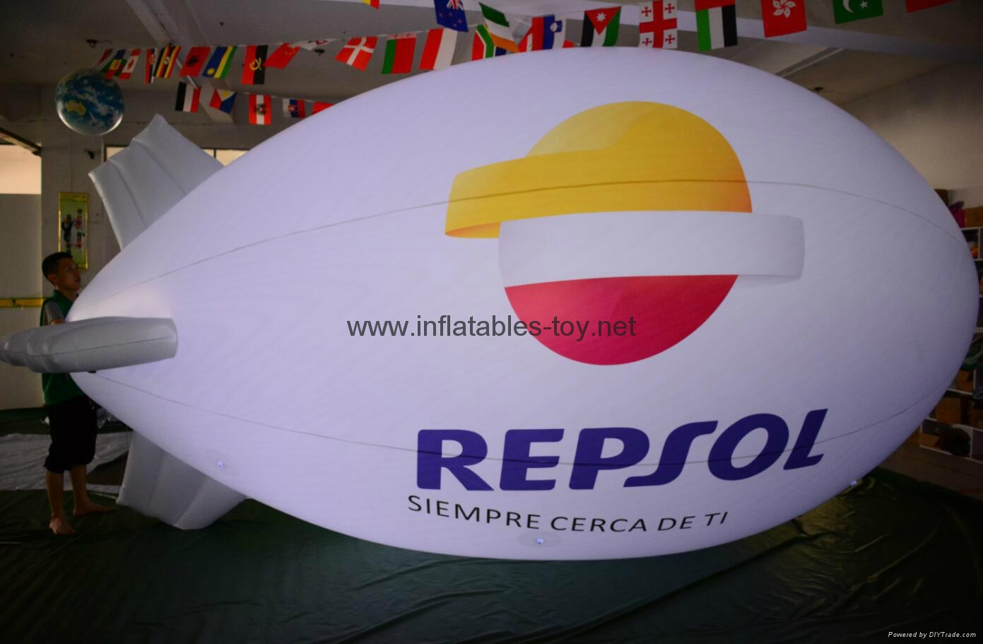 Printed Helium Inflatable Zepelin with LED lights 6