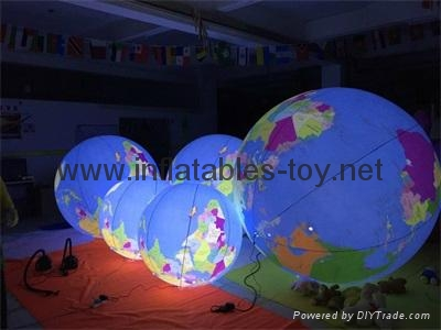 LED Globe Planet  Decoration Balloon, Inflatable Solar System Balloon 16
