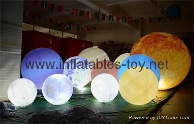 LED Globe Planet  Decoration Balloon, Inflatable Solar System Balloon
