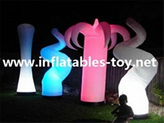 Inflatable Lighting Cone, Inflatable Horn, Stage Lighting Decorations