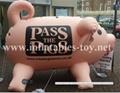 Custom Airtight Inflatable Pink Pig Parade Balloon 7