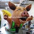Custom Airtight Inflatable Pink Pig Parade Balloon 9