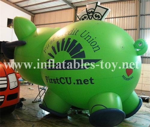 Custom Airtight Inflatable Pink Pig Parade Balloon 11
