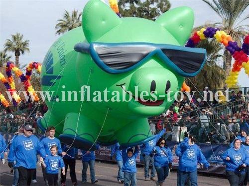 Custom Airtight Inflatable Pink Pig Parade Balloon 12