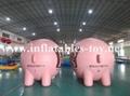 Custom Airtight Inflatable Pink Pig Parade Balloon 4