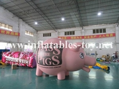 Custom Airtight Inflatable Pink Pig Parade Balloon