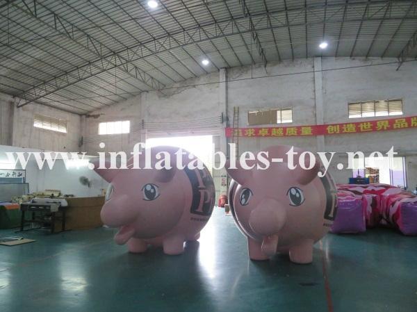 Custom Airtight Inflatable Pink Pig Parade Balloon 2