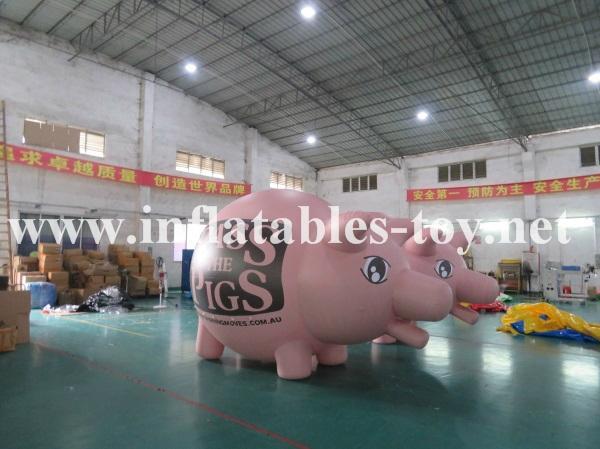 Custom Airtight Inflatable Pink Pig Parade Balloon 3