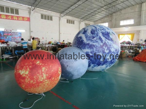 LED Lighting Inflatable Solar Planet Balloon for Event Decoration 1