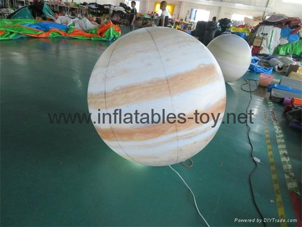 LED Lighting Inflatable Solar Planet Balloon for Event Decoration 9