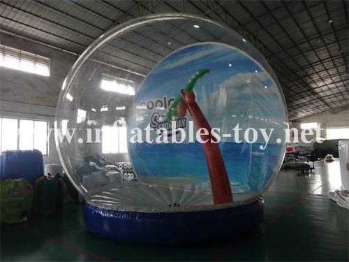 Inflatable snow globe for live show