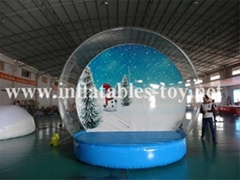 Human Size Snow Globe Clear Inflatable Dome for Live Show