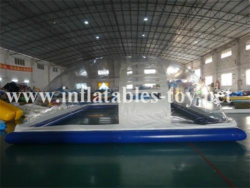Inflatable Pool Cover Dome Tent