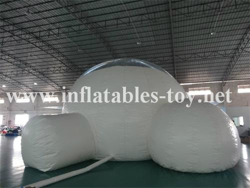 Transparent outdoor huge inflatable bubble for gather together or party
