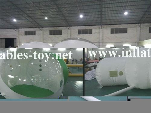 Inflatable Hotal Clear Dome Tent, Inflatable Bubble Camping Dome Tent 2