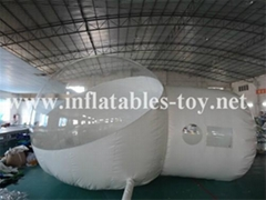 Half Transparent Inflatable Bubble Ten, Clear Dome Tent Inflatables