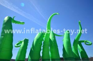 Giant Artist Inflatable Tentacles on the Building for Advertising 2