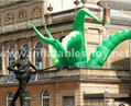 Giant Artist Inflatable Tentacles on the Building for Advertising 4