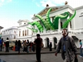 Giant Artist Inflatable Tentacles on the Building for Advertising 8