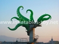 Giant Artist Inflatable Tentacles on the Building for Advertising 10