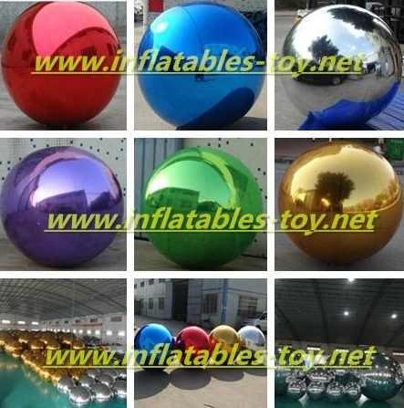 Inflatable Mirror Balls for Decorations
