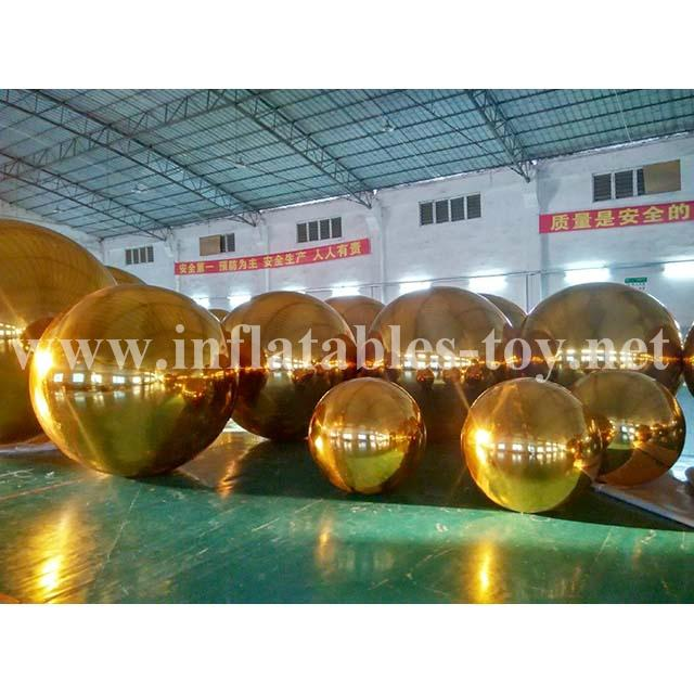 Golden Colors Mirror Balls for Hang