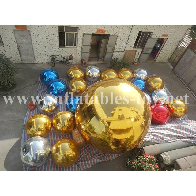 Outdoor Amazing Attraction Silver Balloon, Factory Made Colorfull Mirror Balls 8