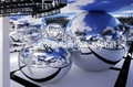Inflatable Mirror Balls for Fashion Show