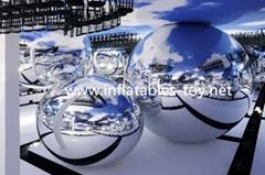 Inflatable Decorative Mirror Balls, Fashion Show Silver Balloon