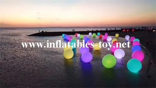 Water Floating LED Lighting Spheres Beach Balloon  2