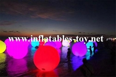 Water Floating LED Lighting Spheres Beach Balloon