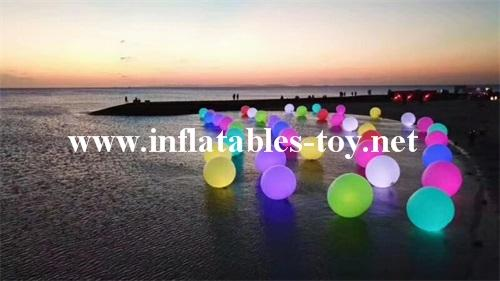 Water Floating LED Lighting Spheres Beach Balloon  4