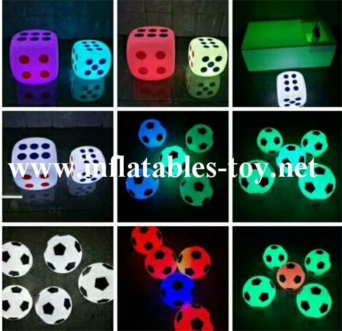 Football Shape LED Decoration Spheres Lighting Balloon 1