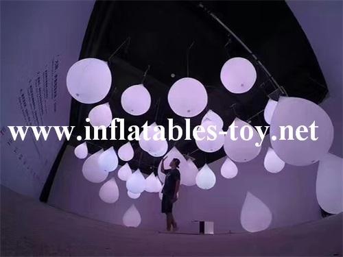 LED Lighting Decoration Inflatable Spheres Lighting Balloon