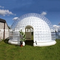 Transparent PVC Inflatable Dome Tent for Outdoor Events, Bubble Dome Tent