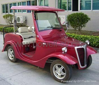 4-seat electric retro passenger carts 2