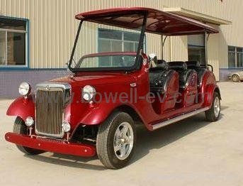 8-seat electric retro passenger carts 2