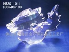 神彩工艺水晶龙