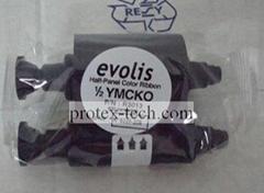 Compatible Evolis half panel color smart ID printer ribbon R3013