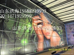 方阵三面翻广告牌