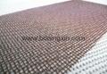 High silica fiberglass mesh filter for casting filtration